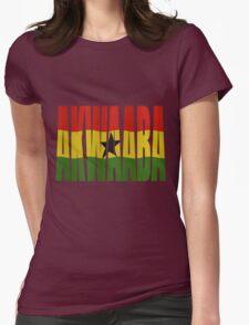 Akwaaba - You're Welcome - Twi + Ghana Flag Womens Fitted T-Shirt