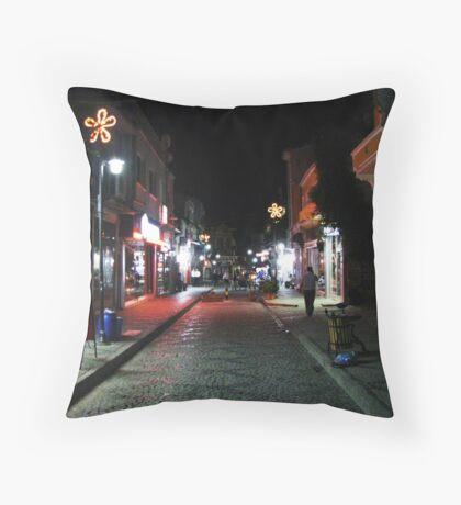 A street Throw Pillow