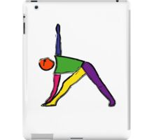 Painting of triangle yoga pose. iPad Case/Skin