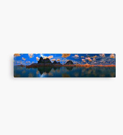 Sunset At Temple Rocks Canvas Print