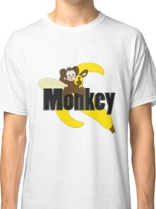 Monkey with Banana Classic T-Shirt