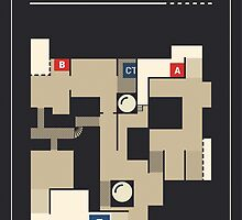 Counter-Strike de_dust2 with white outline by pagrafy