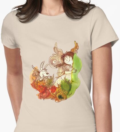 """""""PEEKABOO"""" from the series """"Angels of Protection"""" for Kids Womens Fitted T-Shirt"""