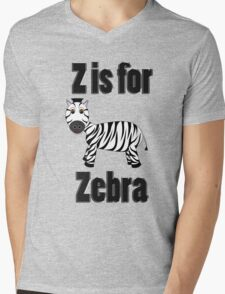 Z Is For Zebra Mens V-Neck T-Shirt
