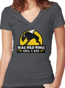 Skag Wild Wings Women's Fitted V-Neck T-Shirt