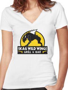 Skag Wild Wings Women's Fitted V-Neck T-Shirt