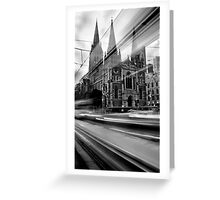 St Paul's Tram Greeting Card