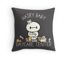 Hairy Baby Daycare Center Throw Pillow