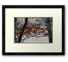 Autumn Leaves in Oil Framed Print