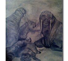 Walrus Family Portrait by leystan