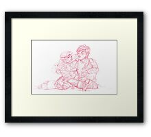 Astrid and Hiccup Framed Print