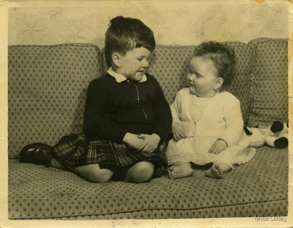 Brother and Sister, 1956 by Mike Oxley