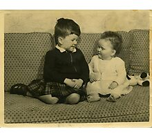 Brother and Sister, 1956 Photographic Print