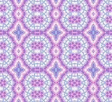Blue and Pink Abstract Design Pattern by Mercury McCutcheon