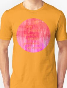 Inspirational Text on Pink Watercolor Abstract T-Shirt