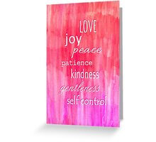 Inspirational Text on Pink Watercolor Abstract Greeting Card
