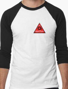 O+ blood type information / stay safe, I suggest application to helmets Men's Baseball ¾ T-Shirt