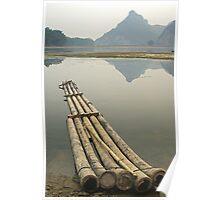Drift Away - Raft,  Near Yangshuo, China Poster