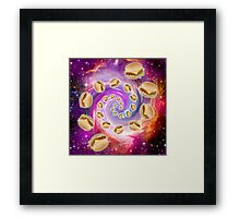 Spiral Galaxy of Burgers Framed Print