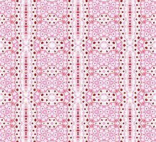 White, Pink and Red Abstract Design Pattern by Mercury McCutcheon