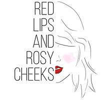 """Taylor Swift - Wildest Dreams inspired """"Red Lips and Rosy Cheeks"""" drawing by everswift"""
