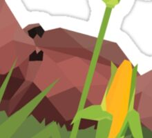 Pumba lying in the grass - low poly Sticker