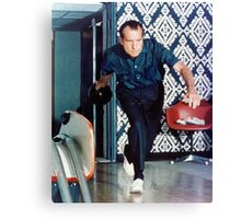 Richard Nixon Bowling Canvas Print