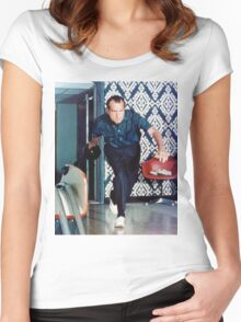 Richard Nixon Bowling Women's Fitted Scoop T-Shirt