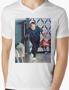 Richard Nixon Bowling Mens V-Neck T-Shirt