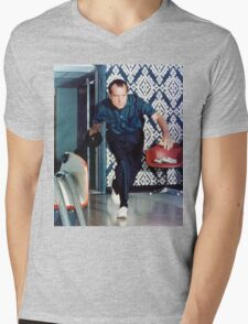 Richard Nixon Bowling Mens V-Neck T-Shirt