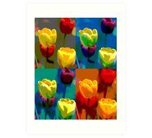 Colorized Tulips Art Print