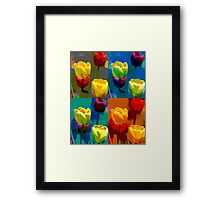Colorized Tulips Framed Print