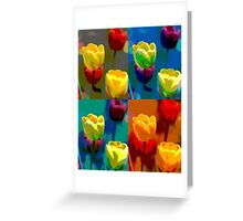 Colorized Tulips Greeting Card