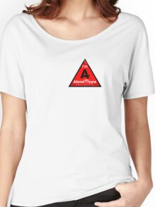 A- blood type information / stay safe, I suggest application to helmets Women's Relaxed Fit T-Shirt