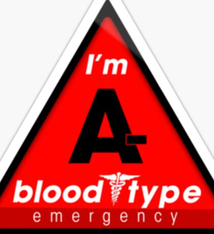 A- blood type information / stay safe, I suggest application to helmets Sticker