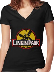 Jurassic Women's Fitted V-Neck T-Shirt