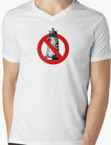 WHO you gonna call? White Mens V-Neck T-Shirt