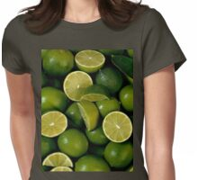 Green Lime Womens Fitted T-Shirt