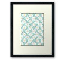 Bright Happy Daisies on Mint Framed Print