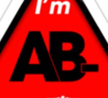 AB- blood type information / stay safe, I suggest application to helmets Sticker