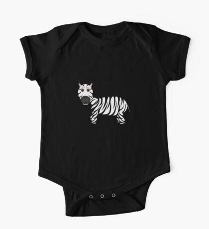 Black and White Zebra One Piece - Short Sleeve