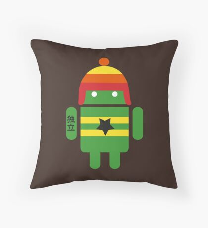 Droidarmy: Browncoat Throw Pillow