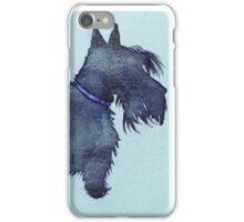 Scottie watercolour (blue) iPhone Case/Skin