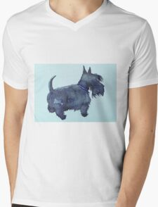 Scottie watercolour (blue) T-Shirt