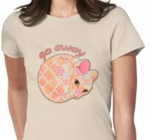 Go Away - Patterned Cat Illustration Womens Fitted T-Shirt