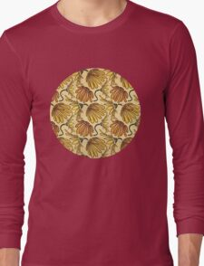 Retro 70's Golden Yellow Daisy Pattern  Long Sleeve T-Shirt