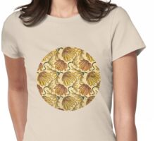 Retro 70's Golden Yellow Daisy Pattern  Womens Fitted T-Shirt