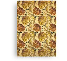 Retro 70's Golden Yellow Daisy Pattern  Canvas Print