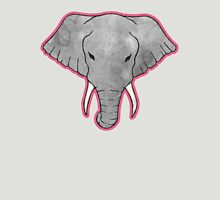 Elephant Pattern on Pink Womens Fitted T-Shirt