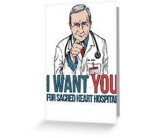 Scrubs Bob Kelso Greeting Card